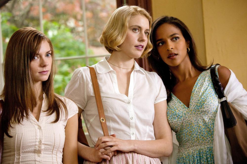 DAMSELS IN DISTRESS, from left: Carrie MacLemore, Greta Gerwig, Megalyn Echikunwoke, 2011. ph: Sabrina Lantos/©Sony Pictures Classics