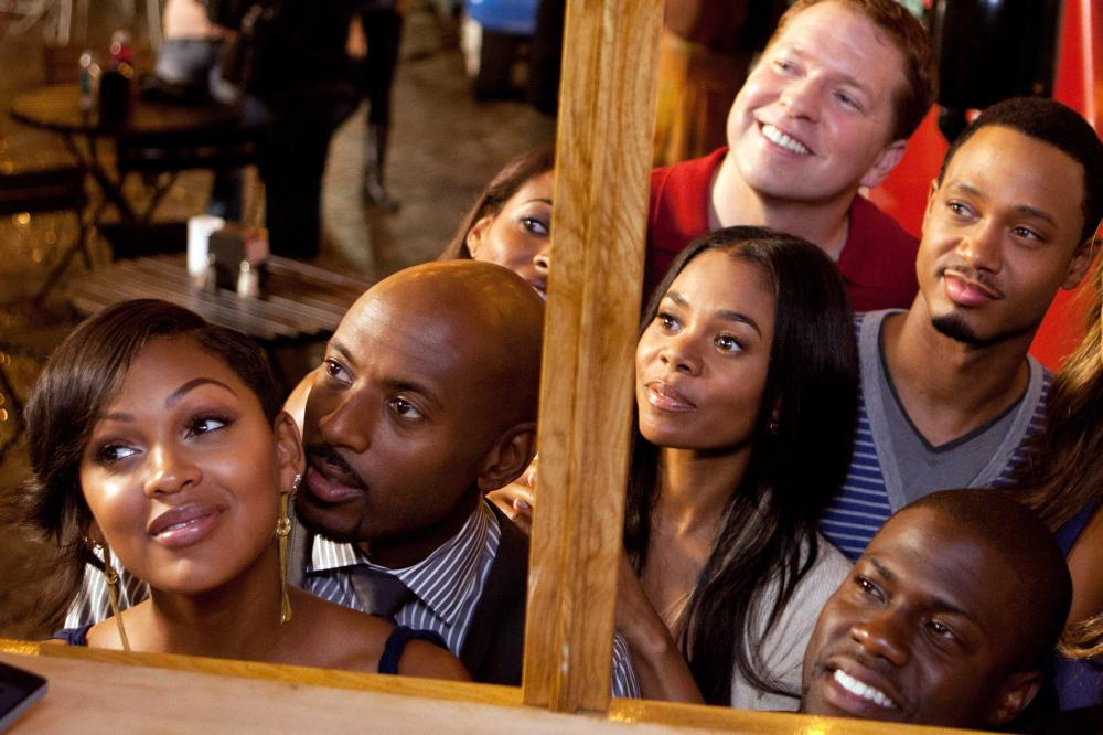 THINK LIKE A MAN, clockwise from bottom left, full faces only: Meagan Good, Romany Malco, Regina Hall, Gary Owen, Terrence Jenkins, Kevin Hart, 2012. ph: Alan Markfield/©Screen Gems