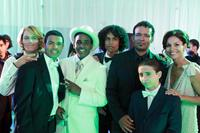 WE THE PARTY, from left: Ryan Vigil, Mandela Van Peebles, Patrick Cage II, Makaylo Van Peebles, Mario Van Peebles, Moises Arias, Salli Richardson-Whitfield, 2012. ©XLrator Media