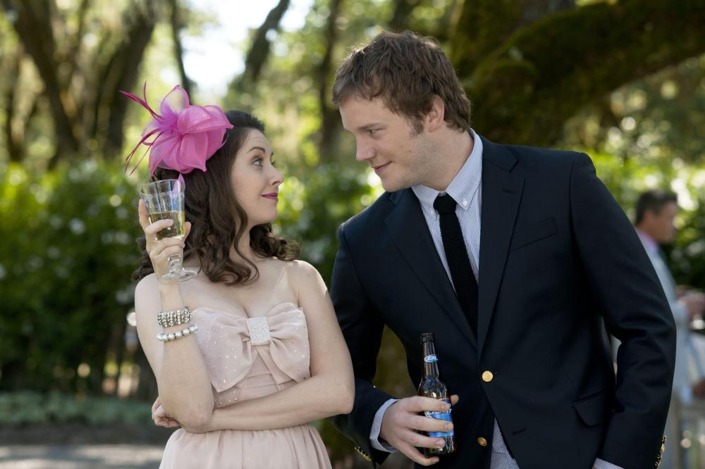 THE FIVE-YEAR ENGAGEMENT, from left: Alison Brie, Chris Pratt, 2012. ph: Glen Wilson/©Universal Pictures