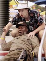 PIRANHA 3DD, Ving Rhames (front), Paul Scheer, 2012, ph: Michael Tackett/©Weinstein Films
