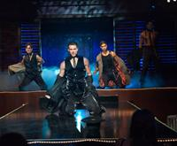 MAGIC MIKE, from left: Matt Bomer, Channing Tatum, Adam Rodriguez, Joe Manganiello, 2012. ph: Claudette Barius/©Warner Bros.