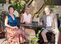 THE BEST EXOTIC MARIGOLD HOTEL, from left: Celia Imrie, Diana Hardcastle, Ronald Pickup, 2012. ph: Ishika Mohan/TM and ©Copyright Fox Searchlight Pictures.
