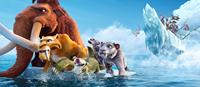 ICE AGE: CONTINENTAL DRIFT, (aka ICE AGE 4: CONTINENTAL DRIFT), front, from left: Manny, Diego, Sid, Granny, Shira, back, from left: Silas, Raz, Flynn, Badger, Gutt, Squint, Dobson, 2012, TM and Copyright ©20th Century Fox Film Corp. All rights reserved.