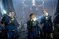 PROMETHEUS, from left: Logan Marshall-Green, Noomi Rapace, Michael Fassbender, 2012. TM & copyright ©20th Century Fox Film Corp. All rights reserved