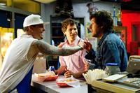 THAT'S MY BOY, from left: Vanilla Ice, Andy Samberg, Adam Sandler, 2012. ph: Tony Rivetti/©Columbia Pictures