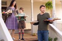 THE ODD LIFE OF TIMOTHY GREEN, from left: Jennifer Garner, Cameron 'CJ' Adams, Joel Edgerton, 2012. ph: Phil Bray/©Walt Disney Pictures