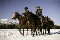 DJANGO UNCHAINED, from left: Jamie Foxx, Christoph Waltz, 2012. ph: Andrew Cooper/©Weinstein Company