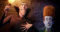 HOTEL TRANSYLVANIA, from left: Dracula (voice: Adam Sandler), Johnnystein (voice: Andy Samberg), 2012, ©Sony Pictures