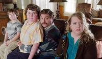 THE CAMPAIGN, l-r: Kya Haywood, Grant Goodman, Zach Galifianakis, Sarah Baker, 2012, ©Warner Bros. Pictures