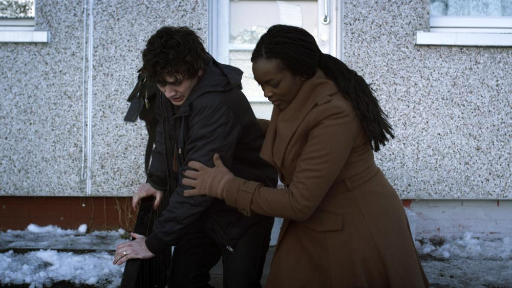 CITADEL, from left: Aneurin Barnard, Wunmi Mosaku, 2012. ©Cinedigm Entertainment Group