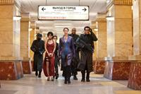 RESIDENT EVIL: RETRIBUTION, from left: LI Bingbing, Michelle Rodriguez, Sienna Guillory, Colin Salmon, Oded Fehr, 2012. ph: Rafy/©Screen Gemgs