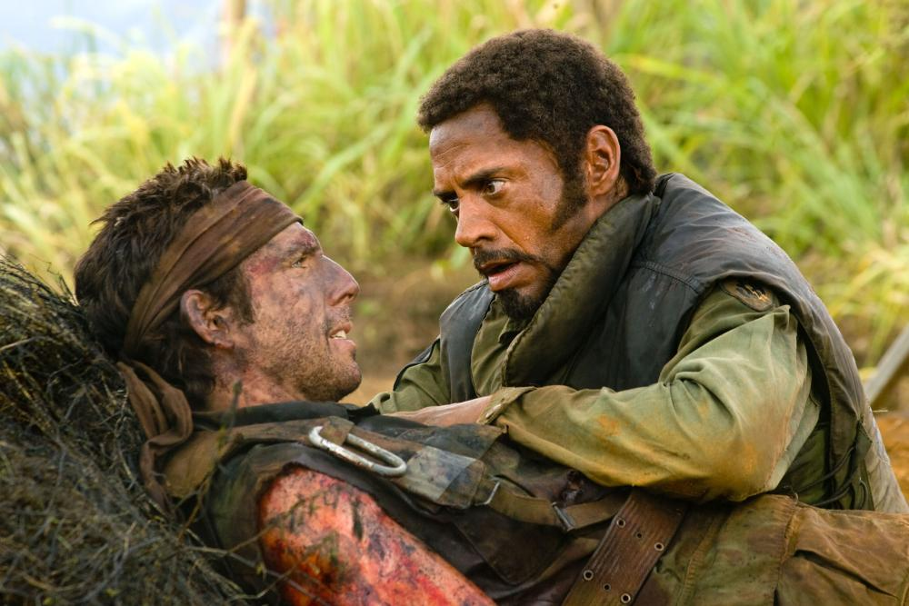 "Ben Stiller and Robert Downey Jr. in ""Tropic Thunder"""