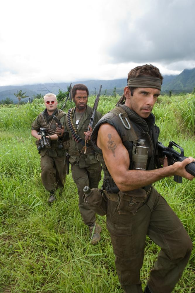 "Ben Stiller, Robert Downey Jr. and Jack Black in ""Tropic Thunder"""