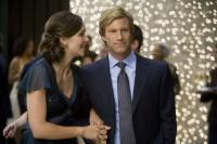 "Maggie Gyllenhaal  and Aaron Eckhart in ""The Dark Knight"""