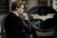 "Christopher Nolan on the set of ""The Dark Knight"""