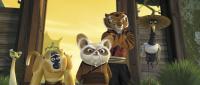 "Master Viper (Lucy Liu), Mantis (Seth Rogen), Master Monkey (Jackie Chan), Shifu (Dustin Hoffman),  Tigress (Angelina Jolie) and Crane (David Cross) in ""Kung Fu Panda"""