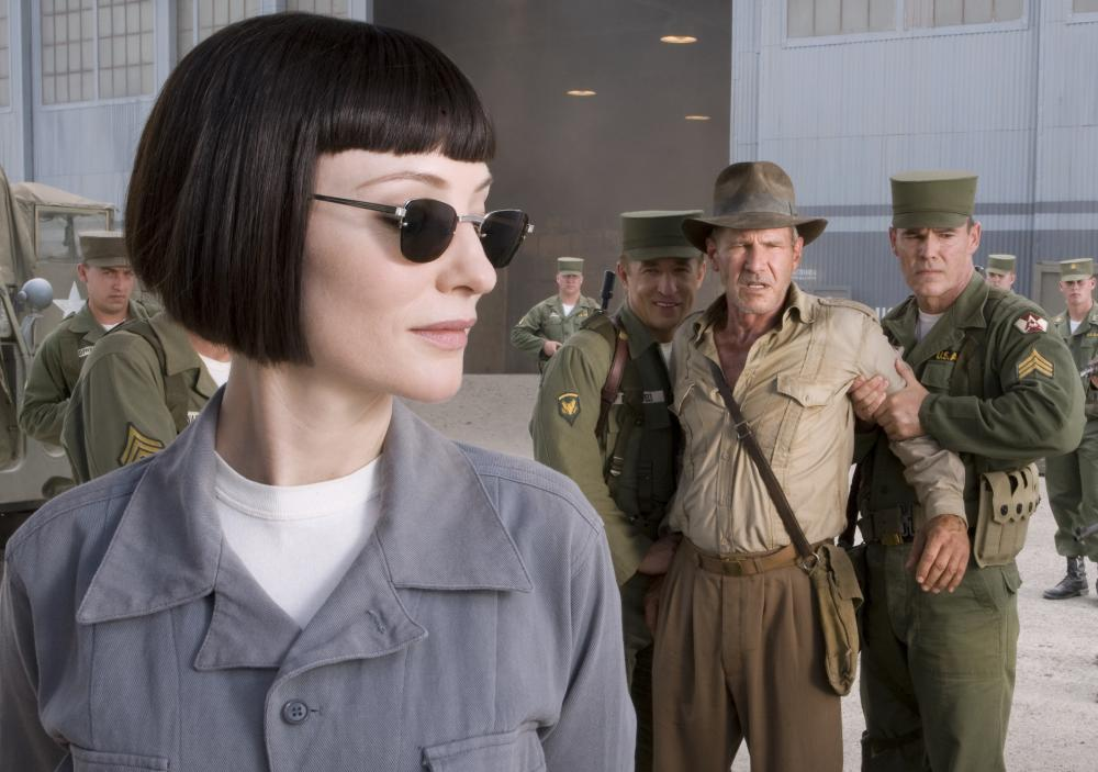 """Cate Blanchett and Harrison Ford in """"Indiana Jones and the Kingdom of the Crystal Skull"""""""