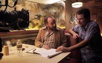 JOHN DIES AT THE END, from left: Paul Giamatti, director Don Coscarelli, on set, 2012. ph: Evans Vestal Ward/©Magnet Releasing