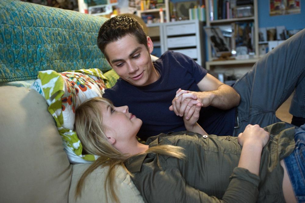 THE FIRST TIME, l-r: Britt Robertson, Dylan O'Brien, 2012, ©Samuel Goldwyn Films