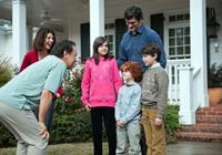 PARENTAL GUIDANCE, l-r: Marisa Tomei, Billy Crystal, Bailee Madison, Kyle Harrison Breitkopf, Tom Everett Scott, Joshua Rush, 2012, ph: Phil Caruso/TM and Copyright ©20th Century Fox Film Corp. All rights reserved.