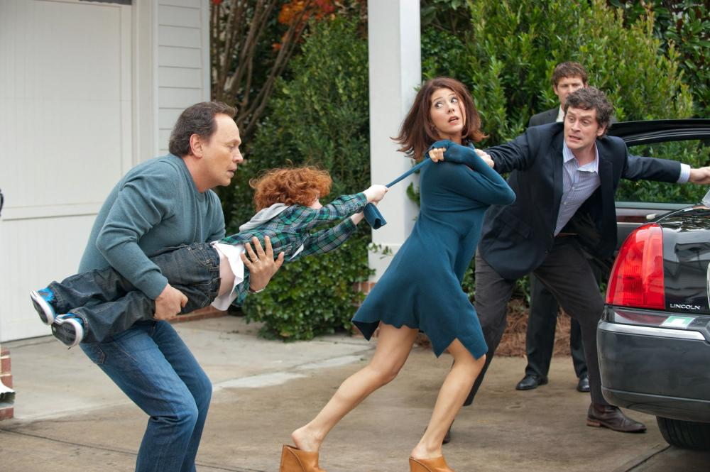 PARENTAL GUIDANCE, l-r: Billy Crystal, Kyle Harrison Breitkopf, Marisa Tomei, Tom Everett Scott, 2012, ph: Phil Caruso/TM and Copyright ©20th Century Fox Film Corp. All rights reserved.