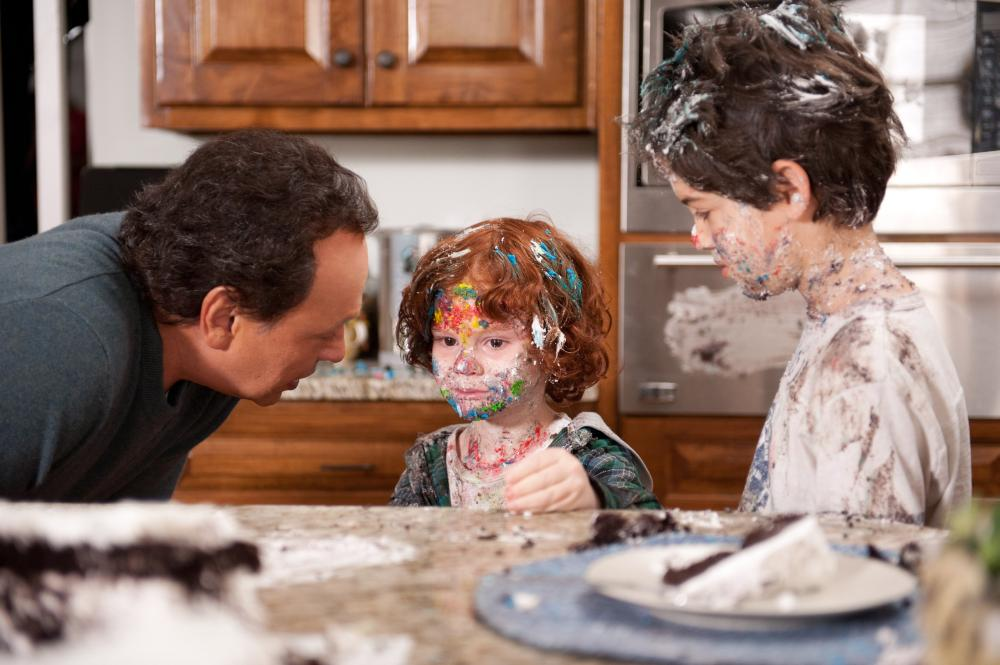 PARENTAL GUIDANCE, l-r: Billy Crystal, Kyle Harrison Breitkopf, Joshua Rush, 2012, ph: Phil Caruso/TM and Copyright ©20th Century Fox Film Corp. All rights reserved.