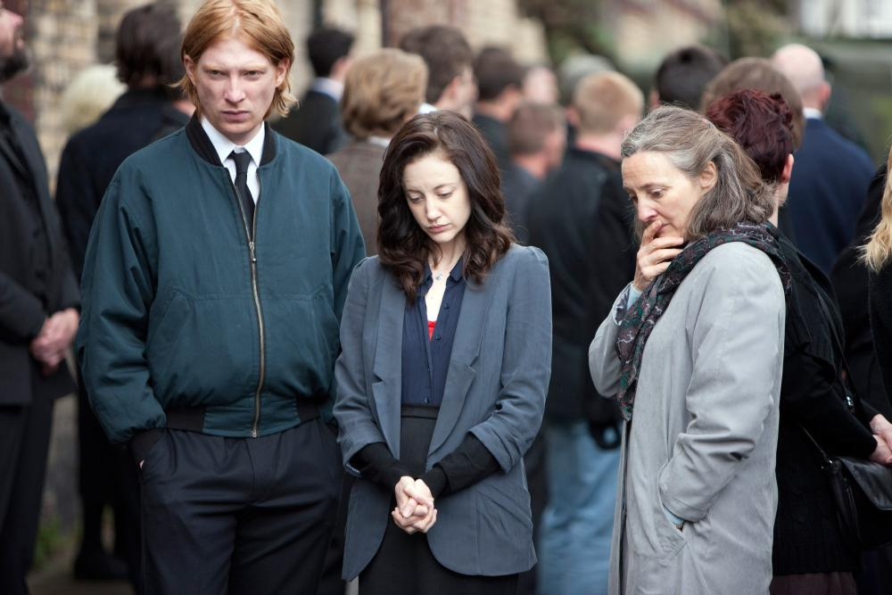 SHADOW DANCER, from left: Domhnall Gleeson, Andrea Riseborough, Brid Brennan, 2012. ph: Jonathan Hession/©ATO Pictures