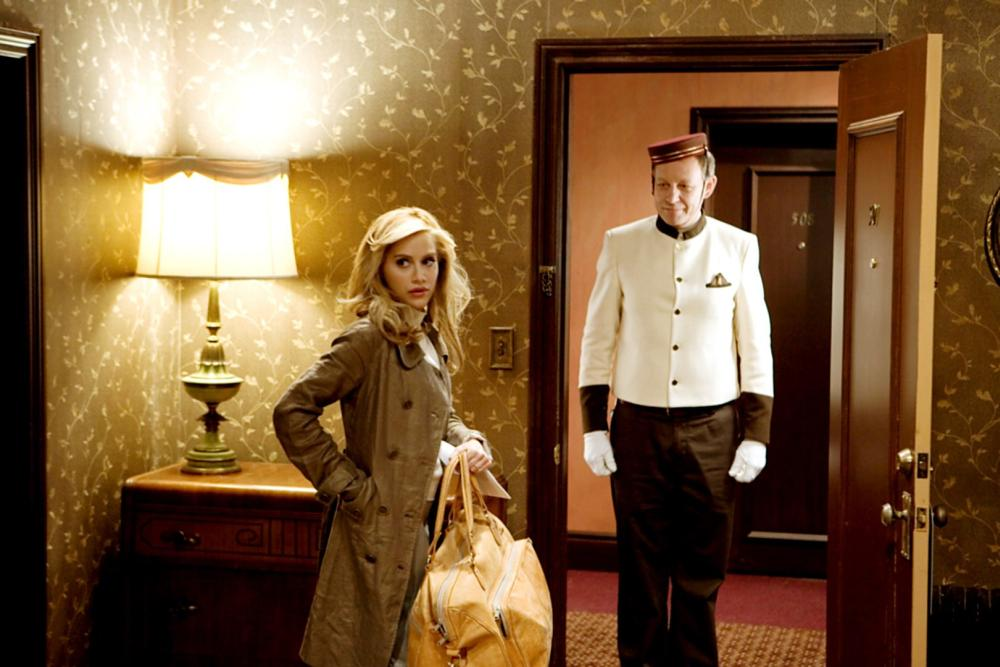 ACROSS THE HALL, from left: Brittany Murphy, Brad Greenquist, 2009. ©Image Entertainment