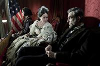 LINCOLN, from left: Gloria Reuben, Sally Field as Mary Todd Lincoln, Daniel Day-Lewis as President Abraham Lincoln, 2012. ph: David James/TM and Copyright ©20th Century Fox Film Corp. All rights reserved.
