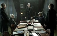 LINCOLN, from left: Byron Jennings, Joseph Cross, Hal Holbrook, Daniel Day-Lewis as President Abraham Lincoln, David Strathairn, Tim Blake Nelson, David Costabile, 2012, ph: David James/TM and Copyright ©20th Century Fox Film Corp. All rights reserved.