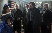 LINCOLN, Sally Field (blue dress), Tommy Lee Jones (second from right), David Costabile (right), 2012, ph: David James/TM and Copyright ©20th Century Fox Film Corp. All rights reserved.