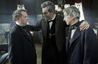 LINCOLN, from left: David Costabile, Daniel Day-Lewis as President Abraham Lincoln, David Strathairn, 2012, ph: David James/TM and Copyright ©20th Century Fox Film Corp. All rights reserved.