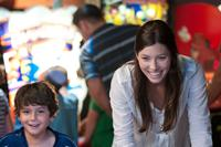 PLAYING FOR KEEPS, (aka PLAYING THE FIELD), from left: Noah Lomax, Jessica Biel, 2012, ph: Dale Robinette/©FilmDistrict