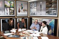 RISE OF THE GUARDIANS, from left: producer Christina Steinberg, director Peter Ramsey, producer and author William Joyce, producer Nancy Bernstein, 2012. ph: Mathieu Young/©Paramount Pictures