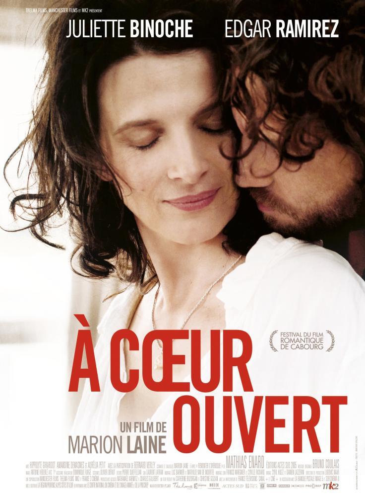 AN OPEN HEART, (aka A COEUR OUVERT), French poster art, from left: Juliette Binoche, Edgar Ramírez, 2012. ©MK2 Diffusion