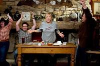 THE GUILT TRIP, from left: Lorna Scott, Seth Rogen, Barbra Streisand, Brett Cullen, 2012. ph: Sam Emerson/©Paramount Pictures
