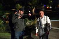 GANGSTER SQUAD, from left: director Ruben Fleischer, Sean Penn, on set, 2013. ph: Wilson Webb/©Warner Bros.
