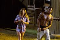 TEXAS CHAINSAW 3D, from left: Tania Raymonde, Trey Songz, 2013. ph: Justin Lubin/©Lionsgate