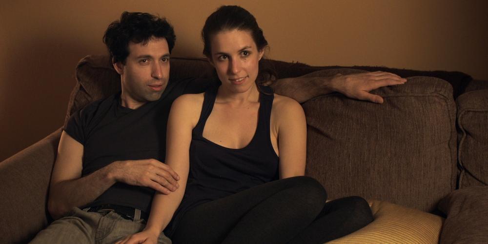 SUPPORTING CHARACTERS, from left: Alex Karpovsky, Sophia Takal, 2012. ©Tribeca Film