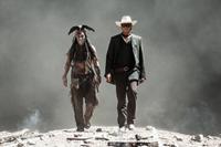 THE LONE RANGER, l-r: Johnny Depp, Armie Hammer, 2013, ph: Peter Mountain/©Walt Disney Pictures