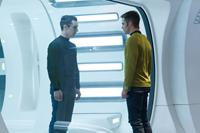 STAR TREK INTO DARKNESS, from left: Benedict Cumberbatch, Chris Pine, 2013. ph: Zade Rosenthal/©Paramount Pictures