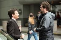 IDENTITY THIEF, from left: Jason Bateman, director Seth Gordon, on set, 2013. ph: Bob Mahoney/©Universal