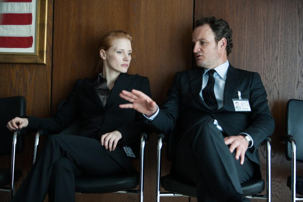 ZERO DARK THIRTY, from left: Jessica Chastain, Jason Clarke, 2012, ph: Jonathan Olley/©Columbia Pictures