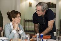 ADMISSION, from left: Tina Fey, director Paul Weitz, on set, 2013. ph: David Lee/©Focus Features