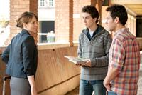 ADMISSION, from left: Tina Fey, Nat Wolff, Paul Rudd, 2013. ph: David Lee/©Focus Features