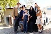 BLESS ME, ULTIMA, Benito Martinez (left), Dolores Heredia (second from left), Luke Ganalon (overalls), Miriam Colon (in black), 2013. ©Arenas Entertainment