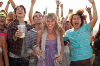 21 AND OVER, from left: Miles Teller, Skylar Astin, Sarah Wright, Justin Chon, 2013. ph: John Johnson/©Relativity Media