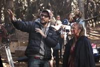 EVIL DEAD, left: Director Fede Alvarez, on set, 2013, ph: Kirsty Griffin/©TriStar Pictures