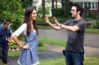 FUN SIZE, from left: Victoria Justice, director Josh Schwartz, on set, 2012. ph: Jamie Trueblood/©Paramount